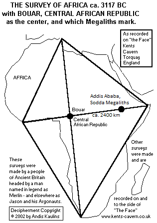Ancient Survey of Africa Map 2