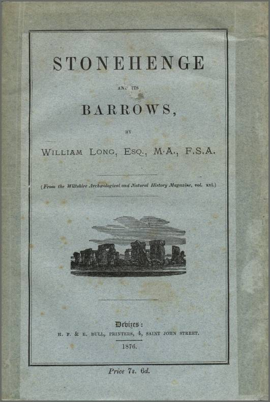 Stonehenge and its Barrows front cover