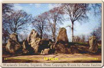Wayland's Smithy Photograph of Megaliths Front